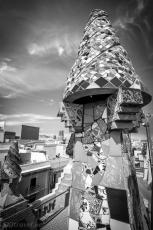 gaudi roof bw